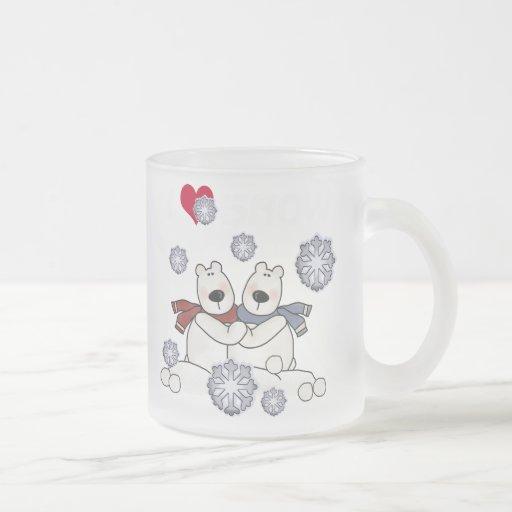 Abrazo del oso polar tazas de café
