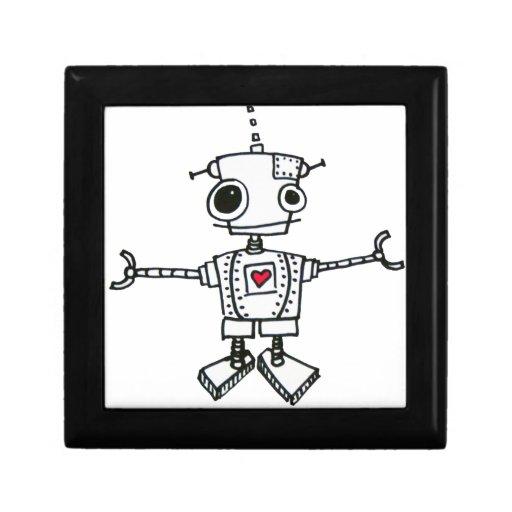 Abrazo del robot joyero cuadrado pequeño