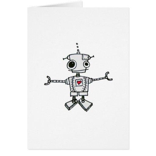 Abrazo del robot tarjeta de felicitación