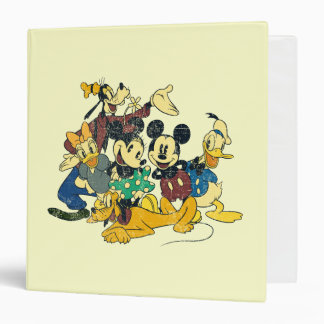 """Abrazo del vintage de Mickey y de los amigos el   Carpeta 1 1/2"""""""