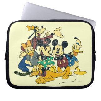Abrazo del vintage de Mickey y de los amigos el | Funda Ordendadores