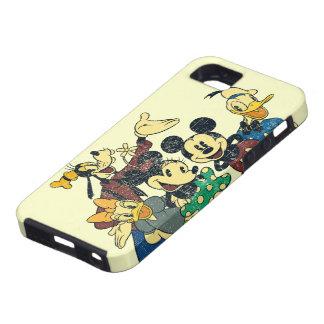 Abrazo del vintage de Mickey y de los amigos el   iPhone 5 Carcasas