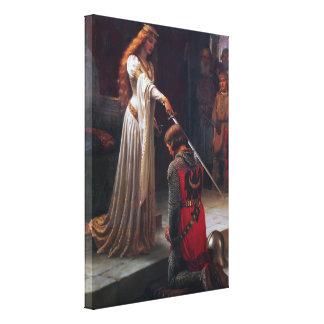 Abrazo - Edmund Blair Leighton Lona Estirada Galerías