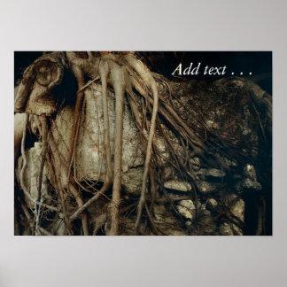 Abrazo fatal -- El árbol machaca la pared Impresiones