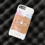 Abrazo lindo del amor del oso de peluche de los funda de iPhone 6 tough