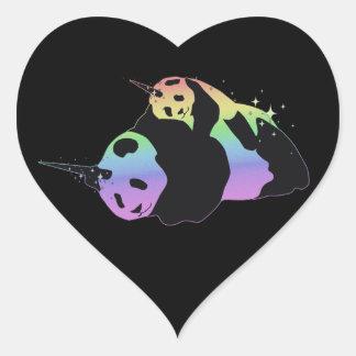 Abrazo mágica de la chispa de las pandas del unico calcomanías de corazones