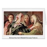 Abrazo Maria y St.Elizabeth de Jacopo Pontormo Felicitación
