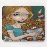 """""""Abrazo"""" Mousepad del gato de Cheshire Tapetes De Ratón"""