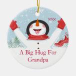 Abrazo para el ornamento del muñeco de nieve del n ornamentos de navidad