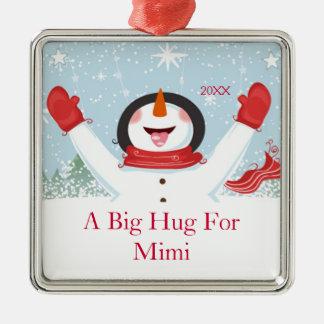 Abrazo para Mimi el ornamento del muñeco de nieve  Ornamentos De Reyes Magos