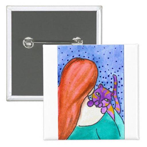 Abrazo Pin Cuadrada 5 Cm