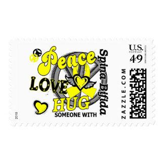 Abrazo Spina del amor de la paz bífido Sello