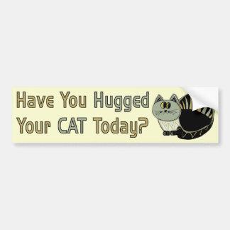 Abrazó su gato pegatina para auto