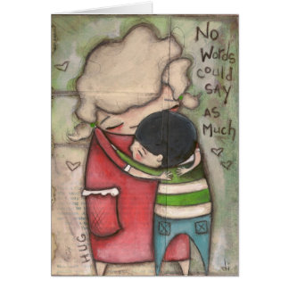 Abrazo - tarjeta de felicitación