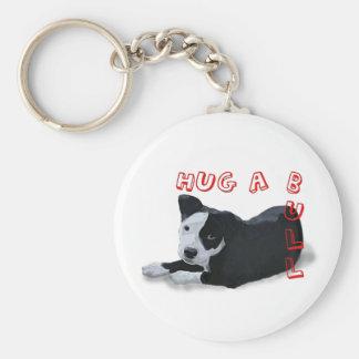 Abrazo-UNO-Bull Llavero Redondo Tipo Pin