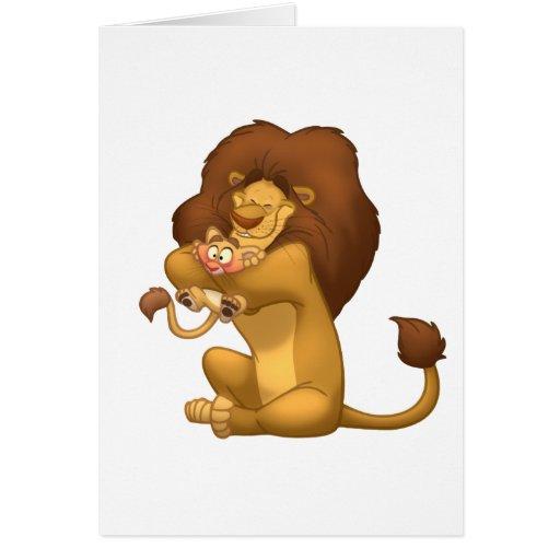 Abrazo-uno-Cub carda (el espacio en blanco dentro) Tarjeta De Felicitación