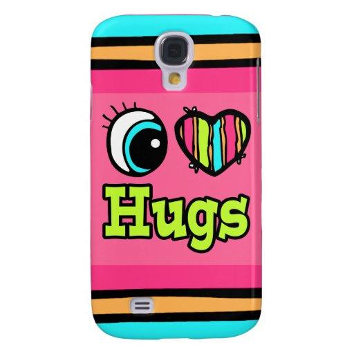 Abrazos brillantes del amor del corazón I del ojo Funda Para Galaxy S4