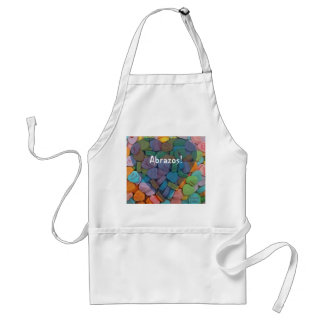 Abrazos-Candy Hearts - Say it in Spanish Aprons