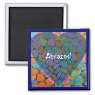 Abrazos-Candy Hearts - Say it in Spanish Refrigerator Magnets