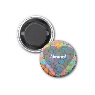 Abrazos-Candy Hearts - Say it in Spanish Refrigerator Magnet