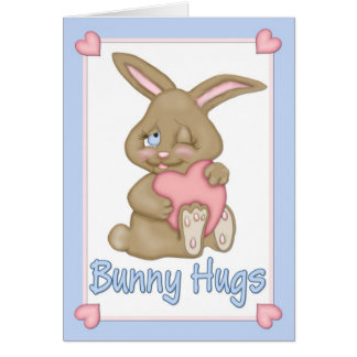 Abrazos de conejito Pascua Tarjeton