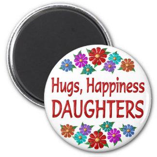 Abrazos de la hija imán redondo 5 cm