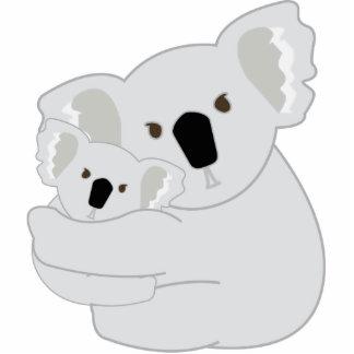 Abrazos de la koala llavero fotográfico