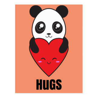 Abrazos de la panda postales
