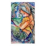 Abrazos de la sirena y del Seahorse. Tarjeta de vi Plantilla De Tarjeta Personal