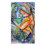 Abrazos de la sirena y del Seahorse. Tarjeta de vi Tarjetas De Visita