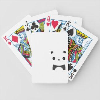 Abrazos de oso de panda barajas de cartas