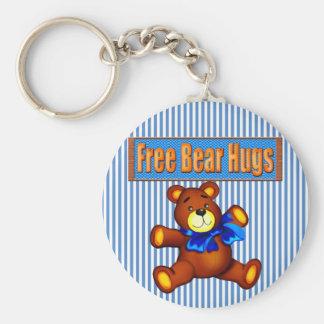 Abrazos de oso libres llavero personalizado