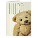 Abrazos de oso lindos de peluche tarjeta de felicitación