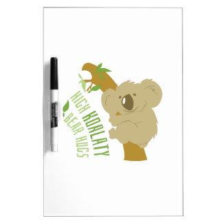Abrazos de oso tablero blanco