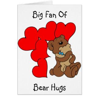 ¡Abrazos de oso! - Tarjeta de felicitación románti