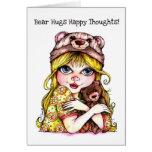 ¡Abrazos de oso y pensamientos felices! Tarjetas