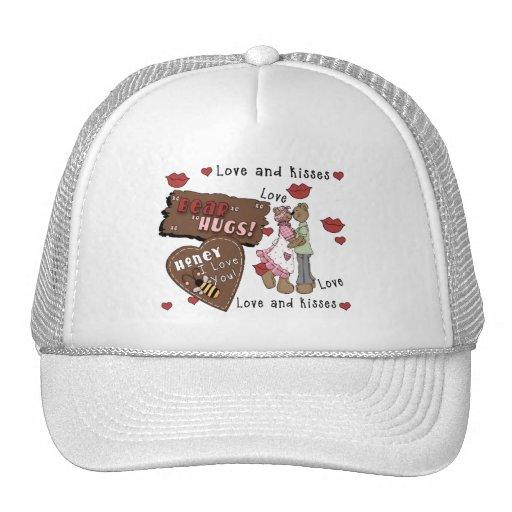Abrazos de osos gorras de camionero