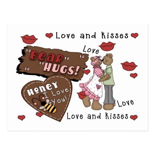 Abrazos de osos postales