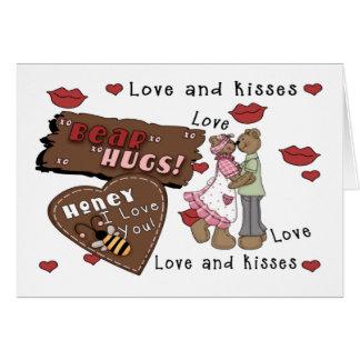 Abrazos de osos tarjeta de felicitación