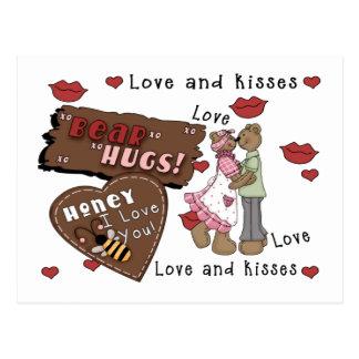 Abrazos de osos tarjeta postal