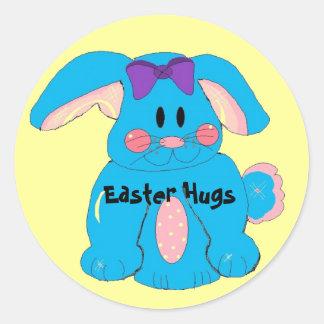 Abrazos de Pascua Pegatina Redonda