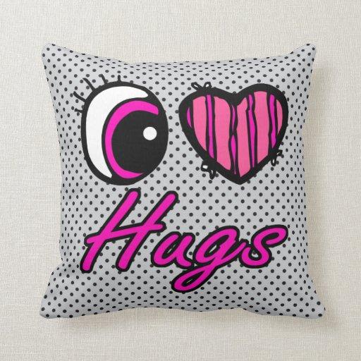 Abrazos del amor del corazón I del ojo de Emo