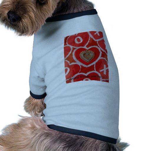 Abrazos del corazón camiseta de perro