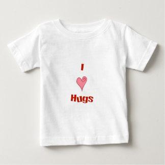 abrazos del corazón playera de bebé