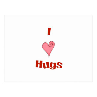 abrazos del corazón tarjeta postal