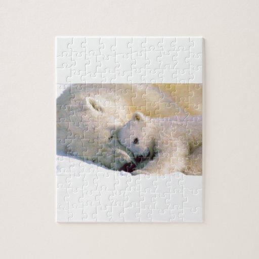 Abrazos del oso polar puzzles con fotos