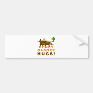Abrazos del tejón de miel pegatina para auto