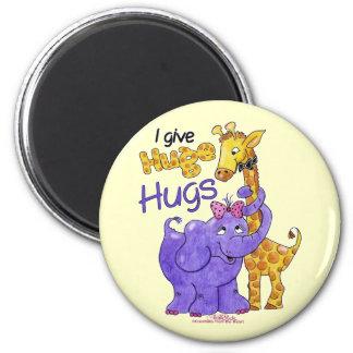 Abrazos enormes imán redondo 5 cm