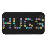 Abrazos florecidos coloridos lindos iPhone 4/4S carcasas