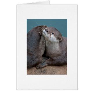 Abrazos grandes tarjeta pequeña